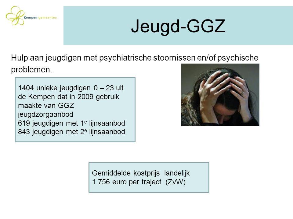 Jeugd-GGZ Hulp aan jeugdigen met psychiatrische stoornissen en/of psychische. problemen.