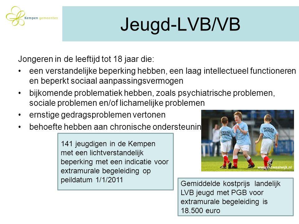 Jeugd-LVB/VB Jongeren in de leeftijd tot 18 jaar die: