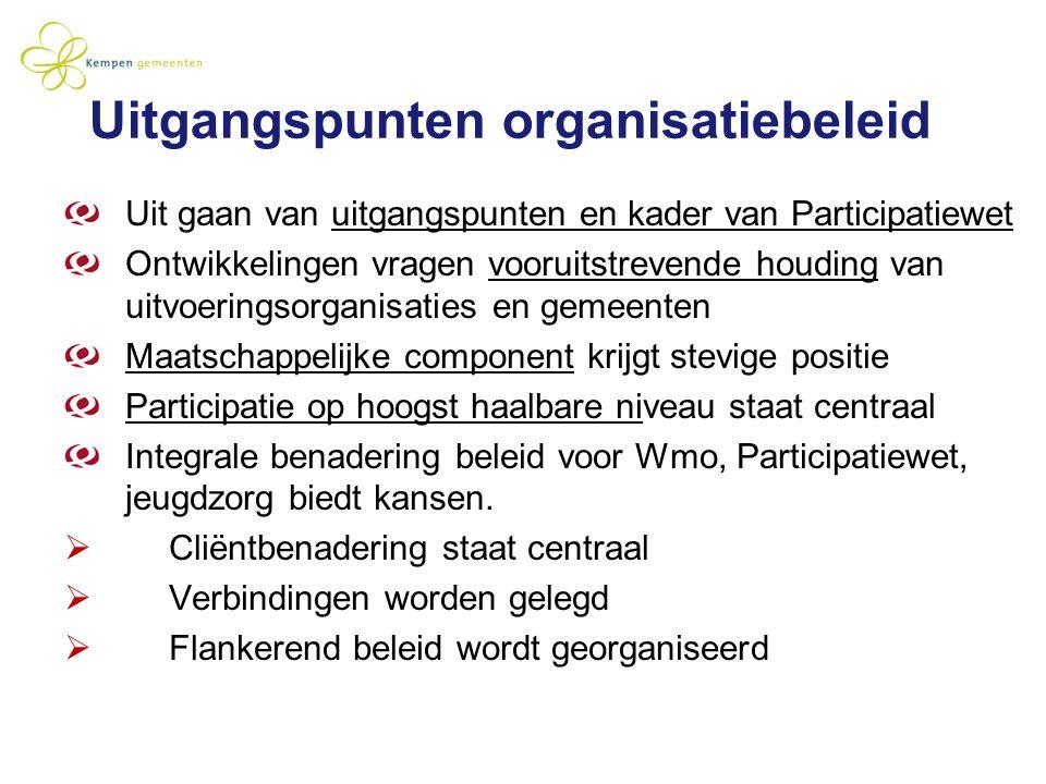 Uitgangspunten organisatiebeleid