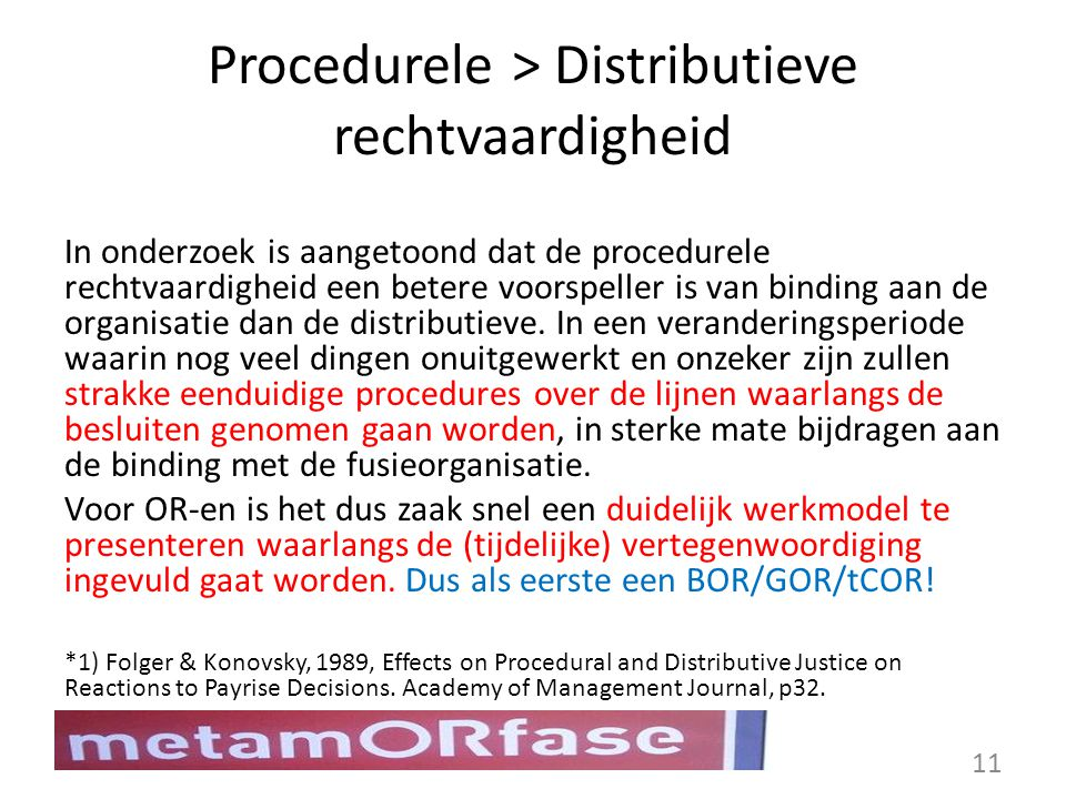 Procedurele > Distributieve rechtvaardigheid
