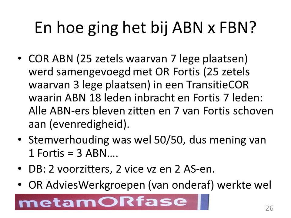 En hoe ging het bij ABN x FBN