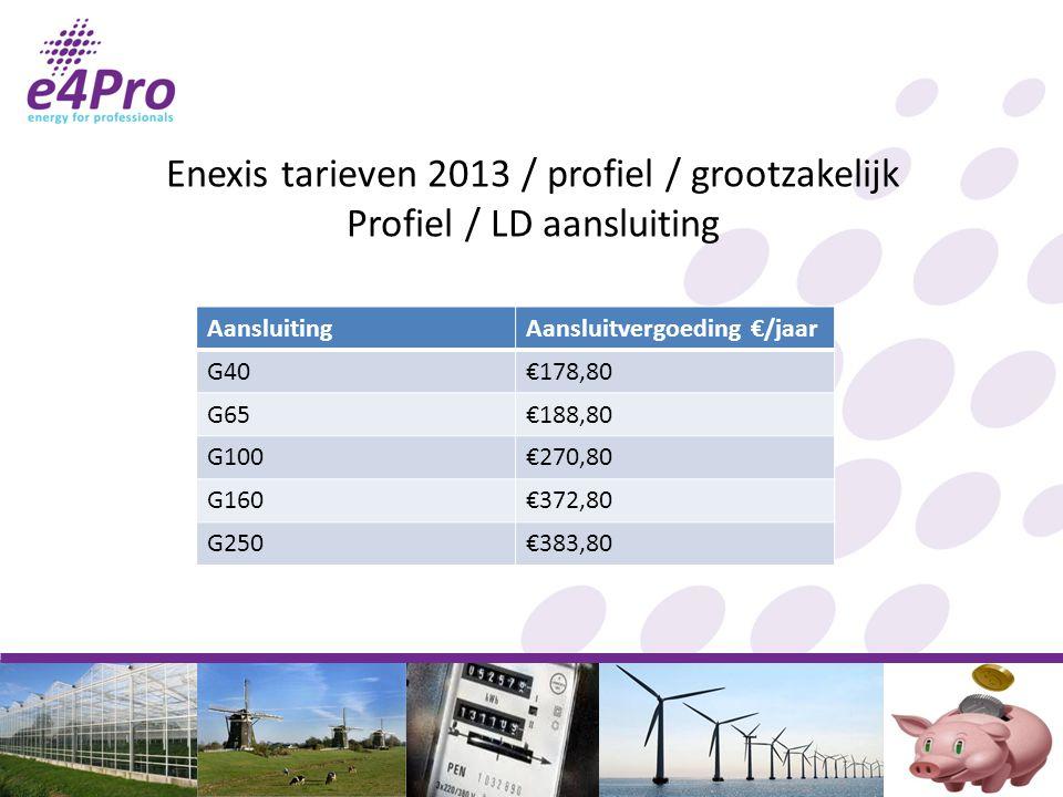 Enexis tarieven 2013 / profiel / grootzakelijk Profiel / LD aansluiting