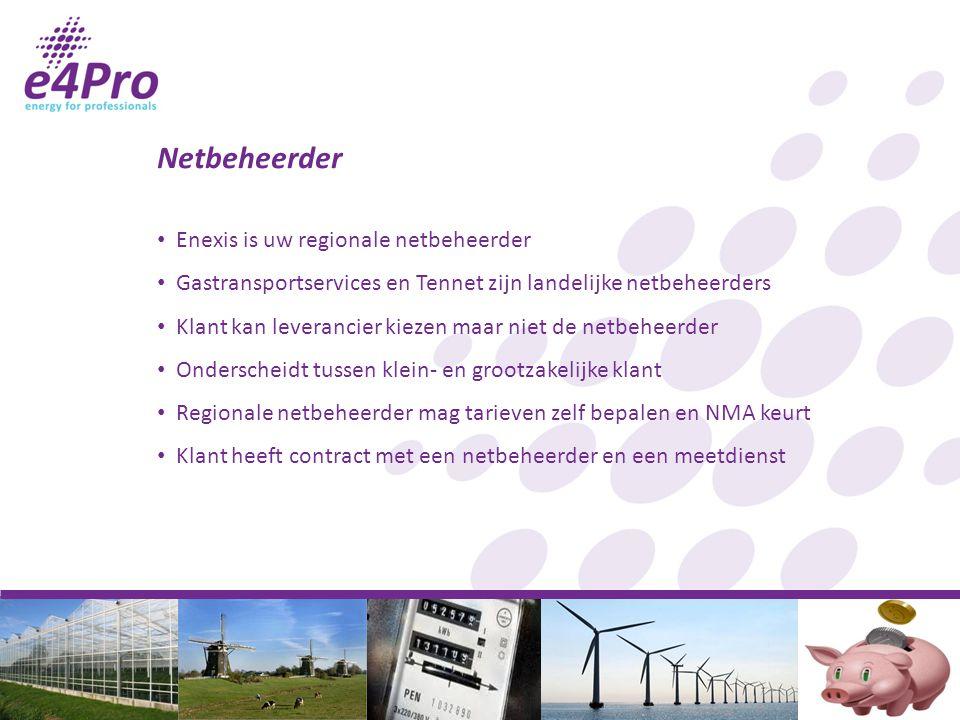 Netbeheerder Enexis is uw regionale netbeheerder