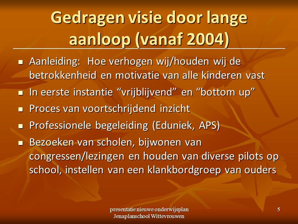 Gedragen visie door lange aanloop (vanaf 2004)