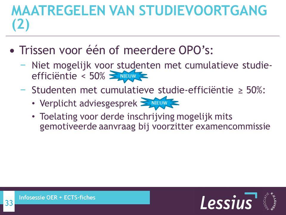MAATREGELEN VAN STUDIEVOORTGANG (2)