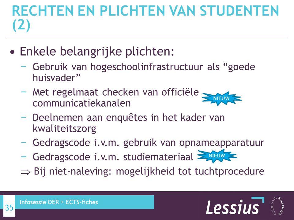 RECHTEN EN PLICHTEN VAN STUDENTEN (2)