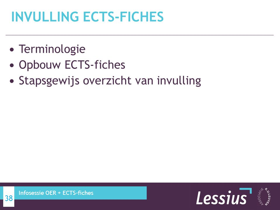 INVULLING ECTS-FICHES