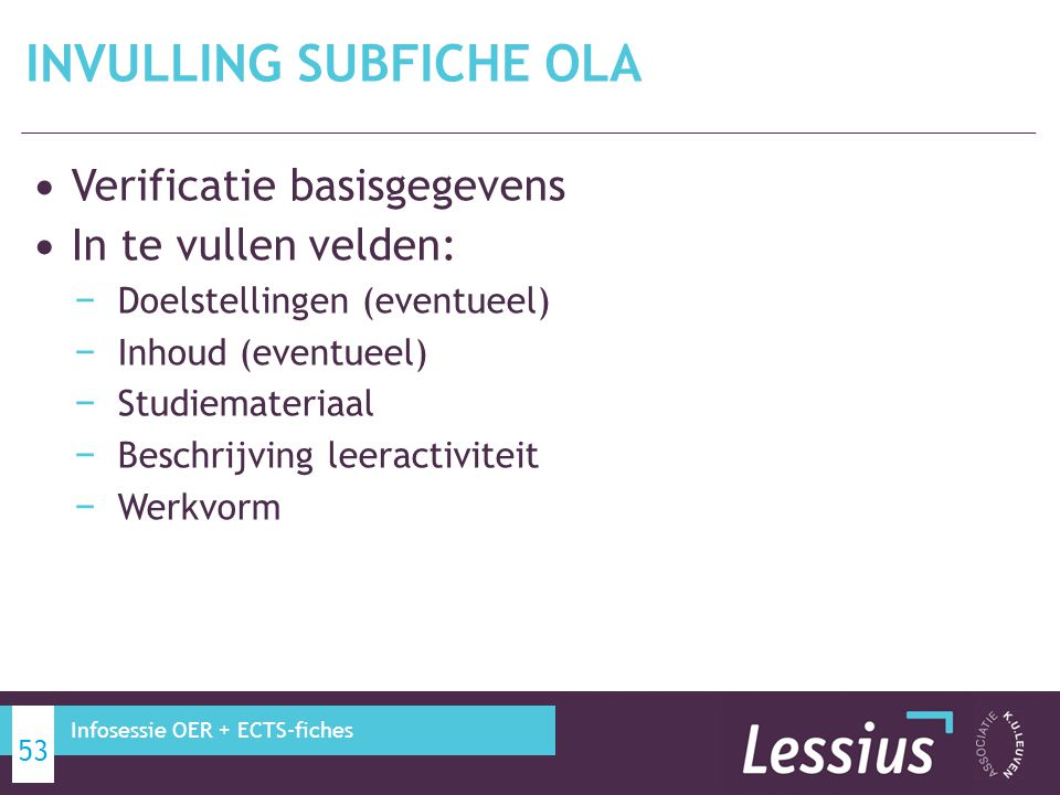INVULLING subfiche oLA