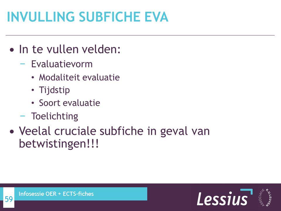 INVULLING subfiche EVA