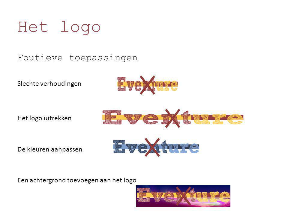 Het logo Foutieve toepassingen Slechte verhoudingen Het logo uitrekken