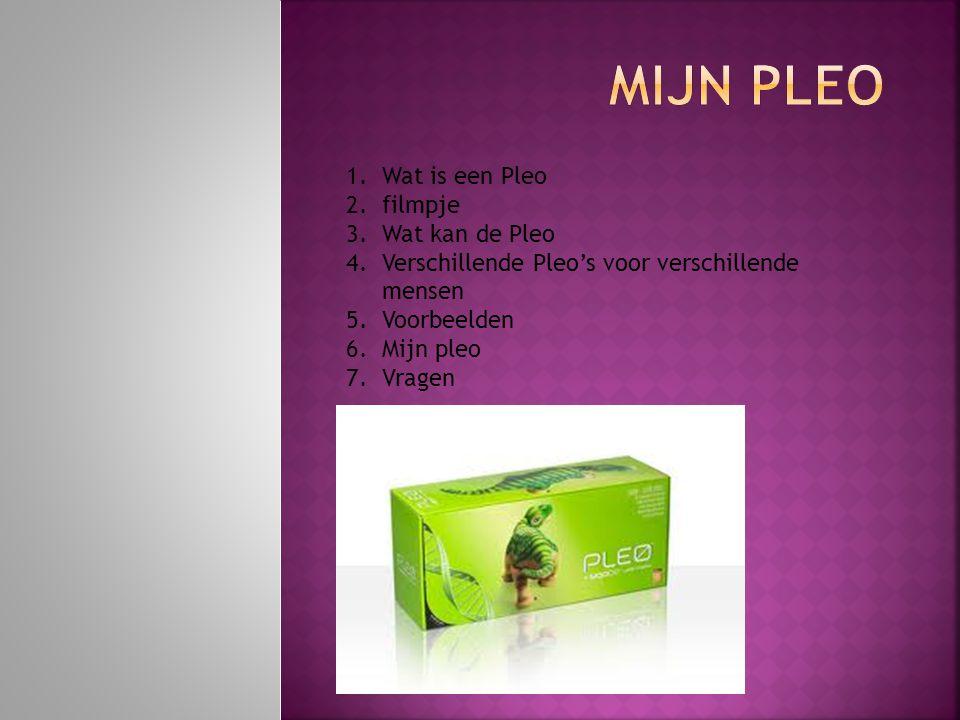 Mijn Pleo Wat is een Pleo filmpje Wat kan de Pleo