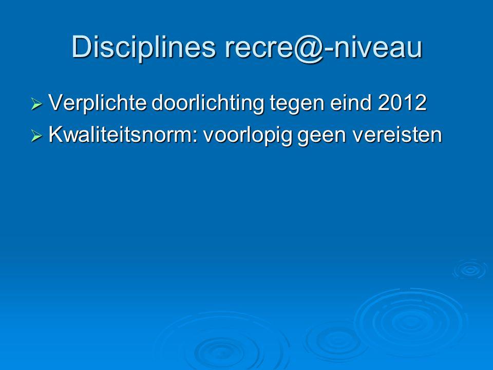Disciplines recre@-niveau