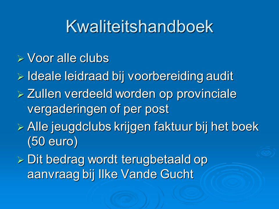 Kwaliteitshandboek Voor alle clubs