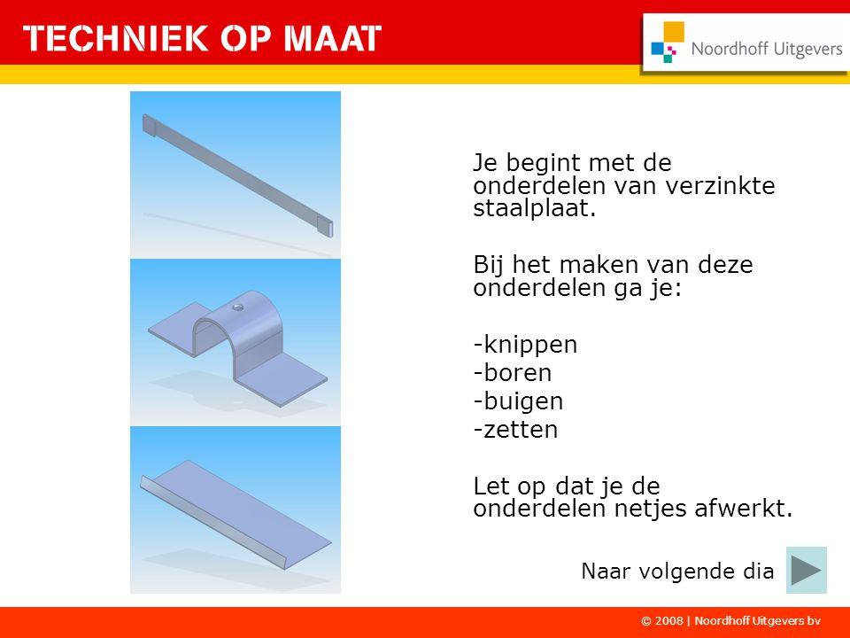 Je begint met de onderdelen van verzinkte staalplaat.