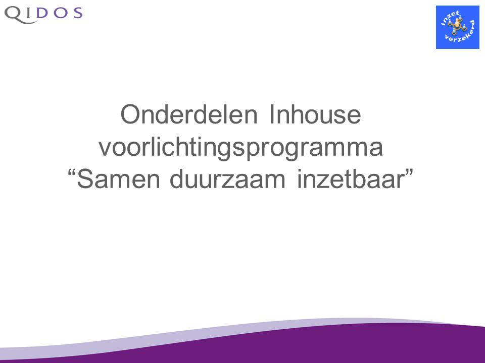 Onderdelen Inhouse voorlichtingsprogramma Samen duurzaam inzetbaar