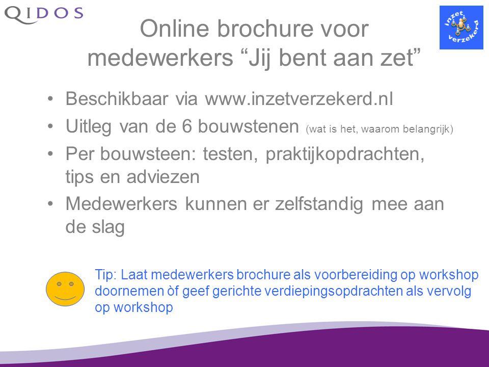 Online brochure voor medewerkers Jij bent aan zet