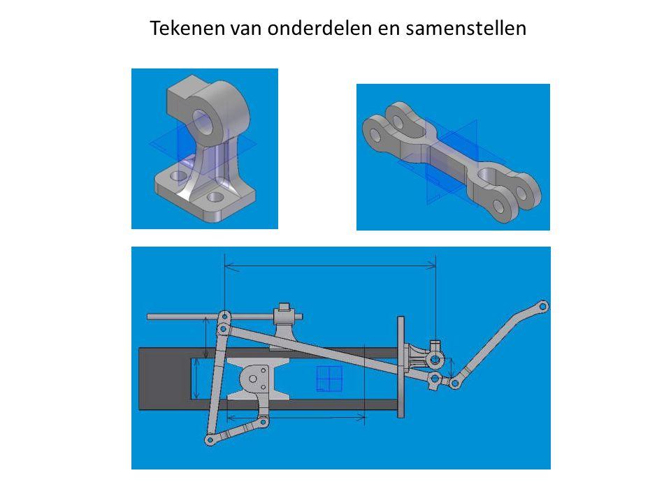Tekenen van onderdelen en samenstellen