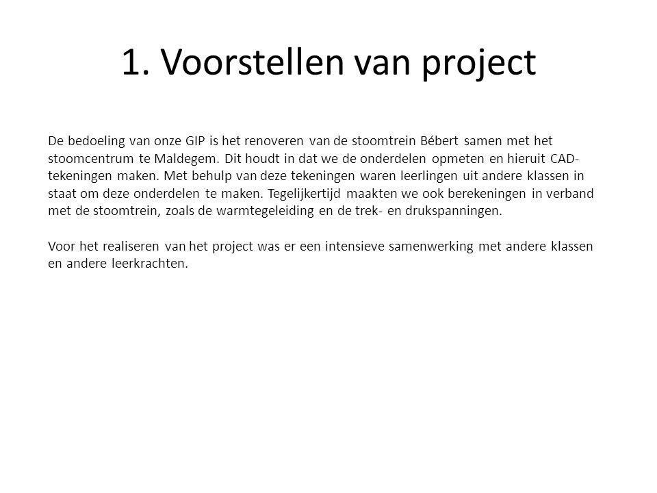 1. Voorstellen van project
