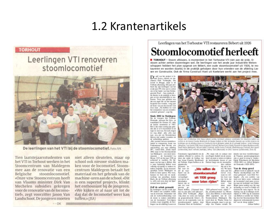 1.2 Krantenartikels