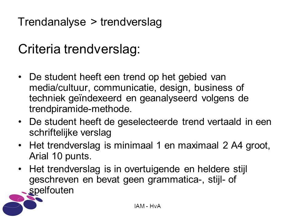 Trendanalyse > trendverslag