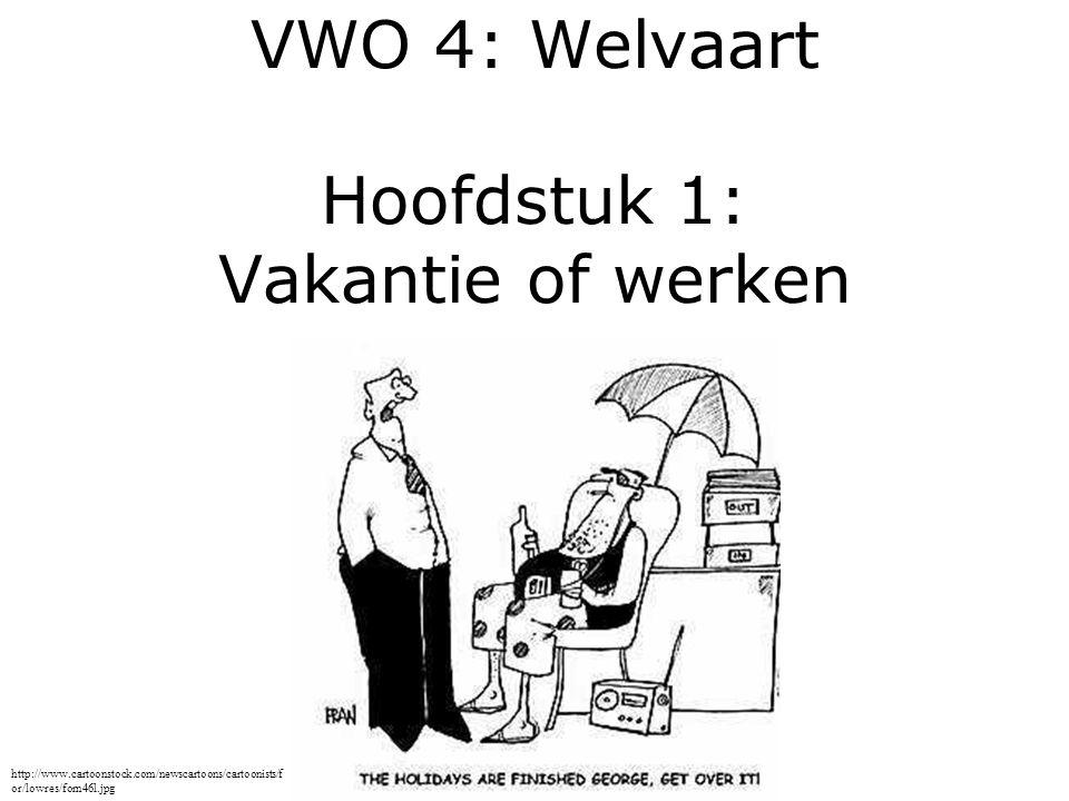 VWO 4: Welvaart Hoofdstuk 1: Vakantie of werken