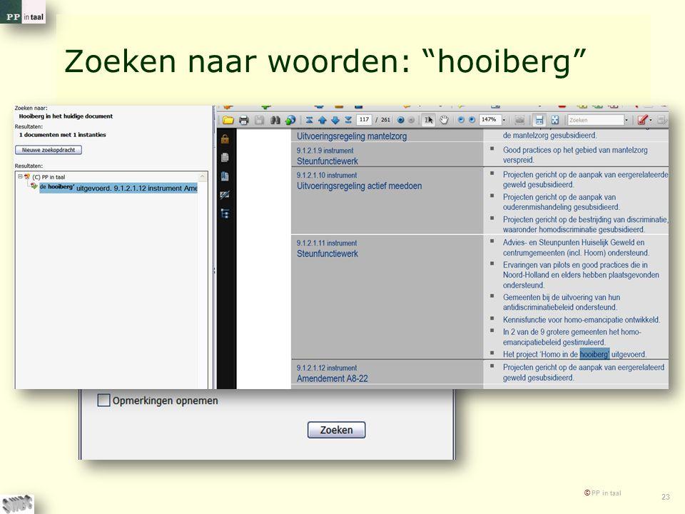 Zoeken naar woorden: hooiberg