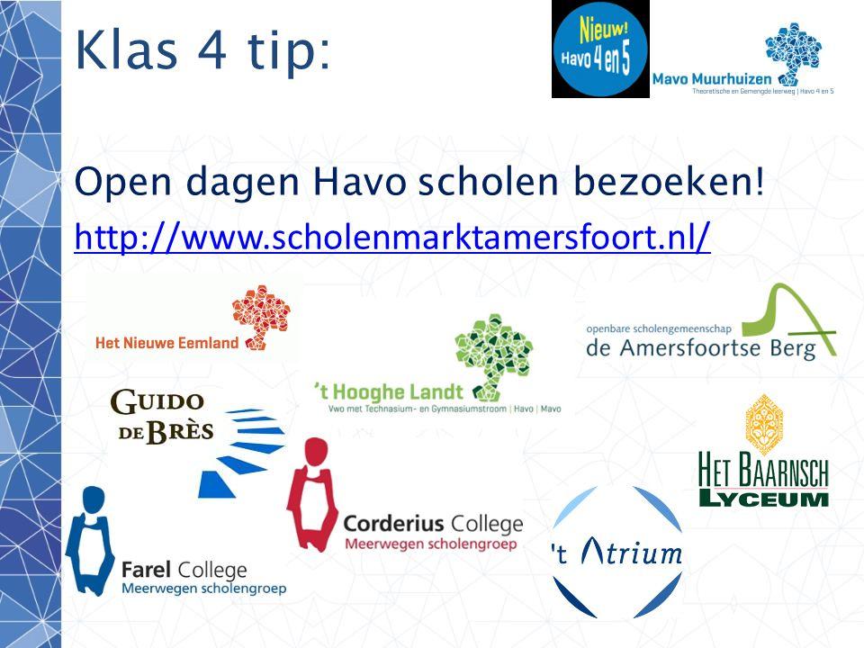 Klas 4 tip: Open dagen Havo scholen bezoeken!