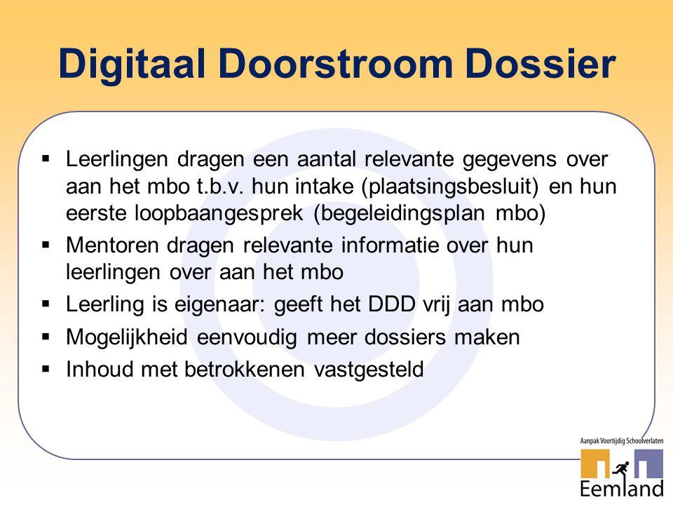 Digitaal Doorstroom Dossier