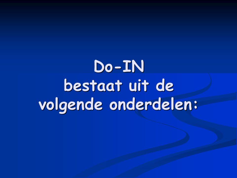 Do-IN bestaat uit de volgende onderdelen: