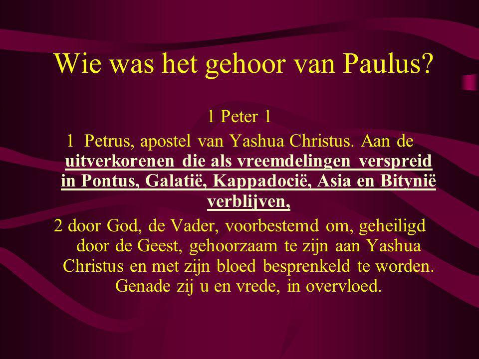 Wie was het gehoor van Paulus