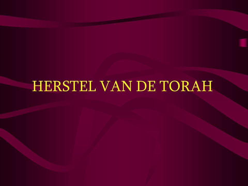 HERSTEL VAN DE TORAH