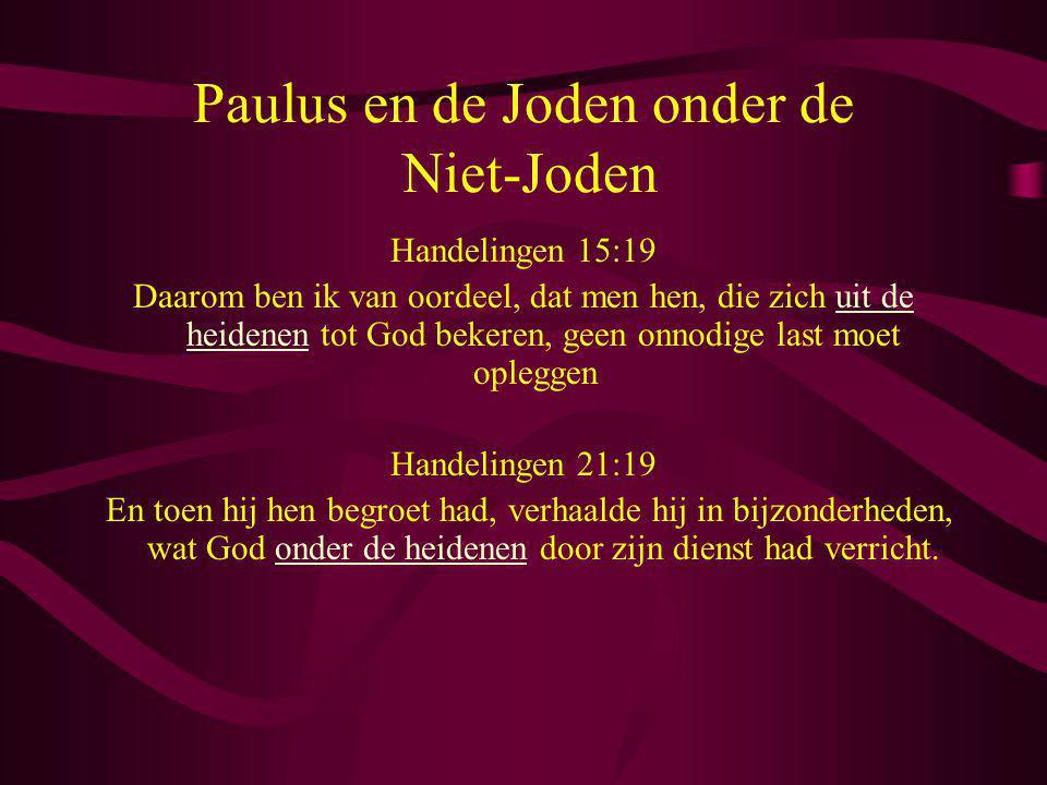 Paulus en de Joden onder de Niet-Joden