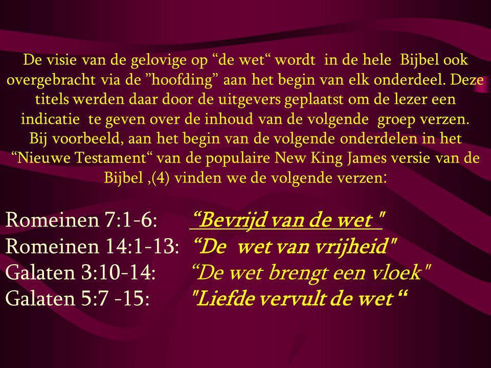 Romeinen 7:1-6: Bevrijd van de wet