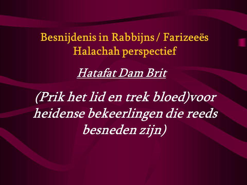 Besnijdenis in Rabbijns / Farizeeës Halachah perspectief