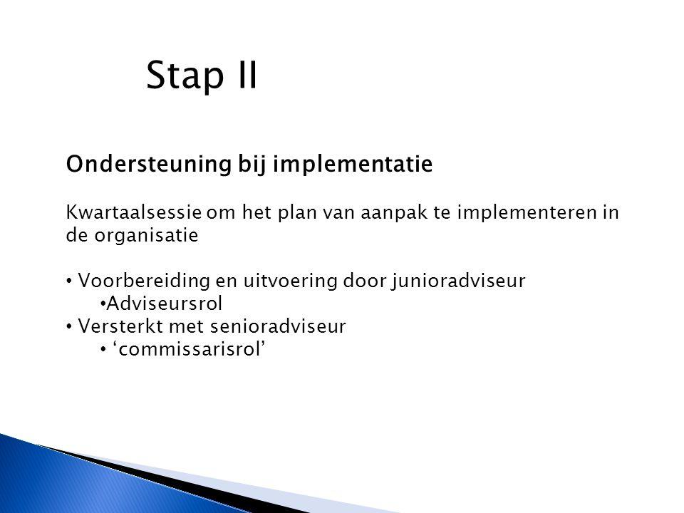 Stap II Ondersteuning bij implementatie