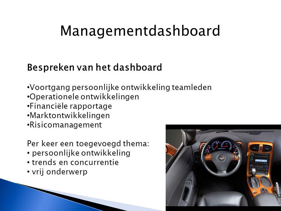 Managementdashboard Bespreken van het dashboard