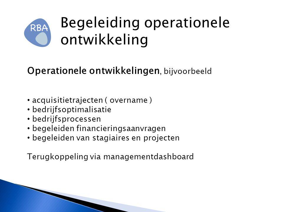 Begeleiding operationele ontwikkeling