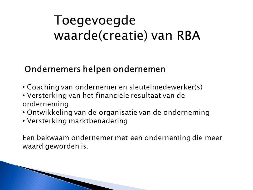 Toegevoegde waarde(creatie) van RBA