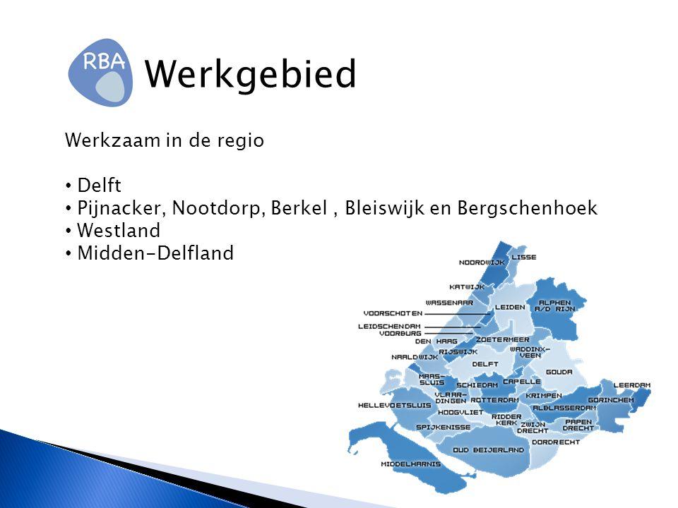 Werkgebied Werkzaam in de regio Delft