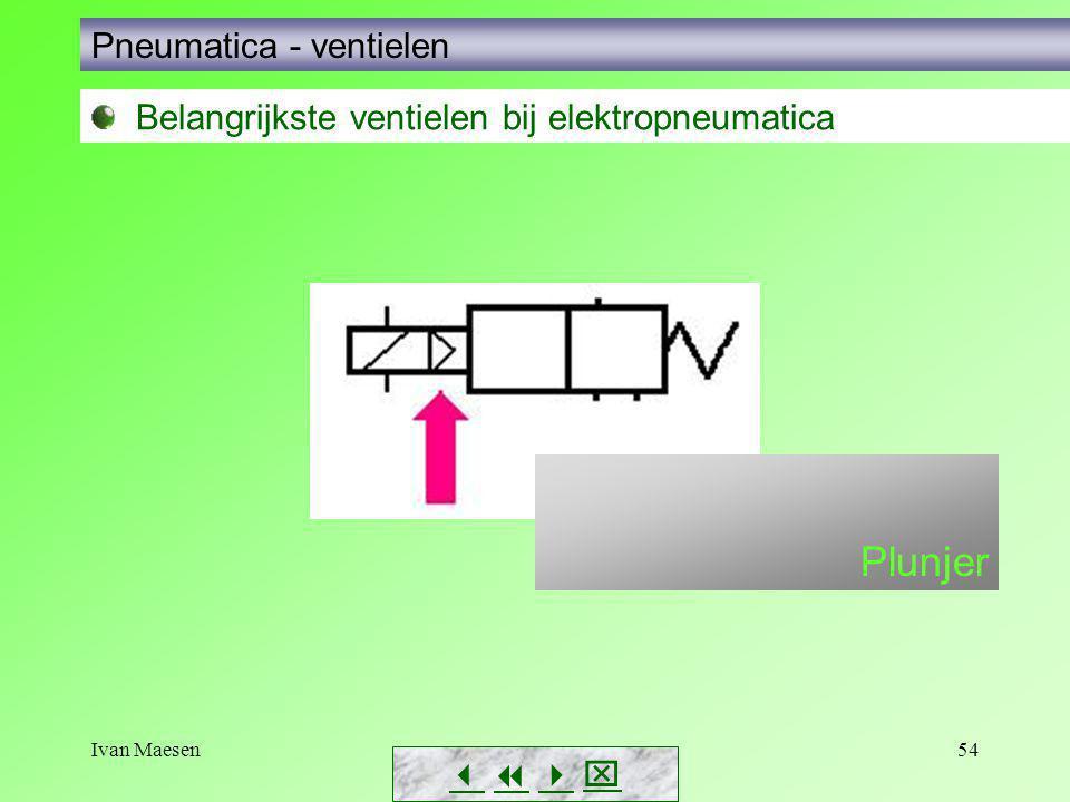 Plunjer Pneumatica - ventielen