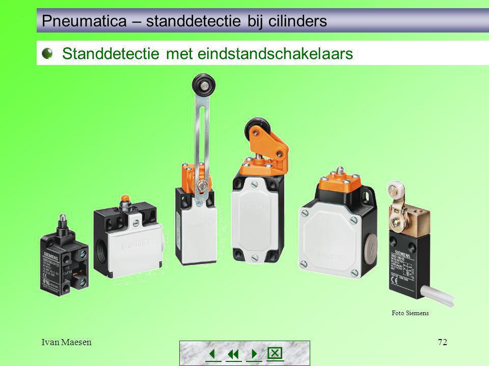 Pneumatica – standdetectie bij cilinders