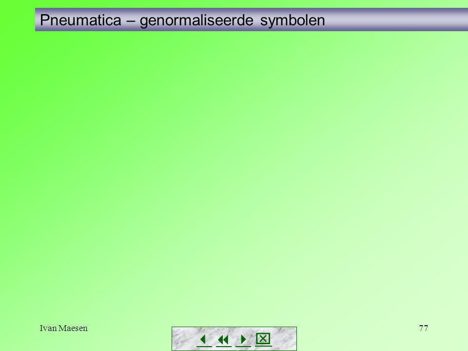 Pneumatica – genormaliseerde symbolen