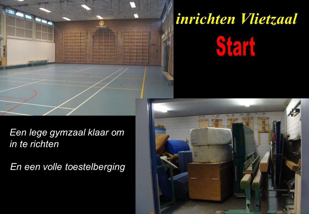 inrichten Vlietzaal Start Een lege gymzaal klaar om in te richten