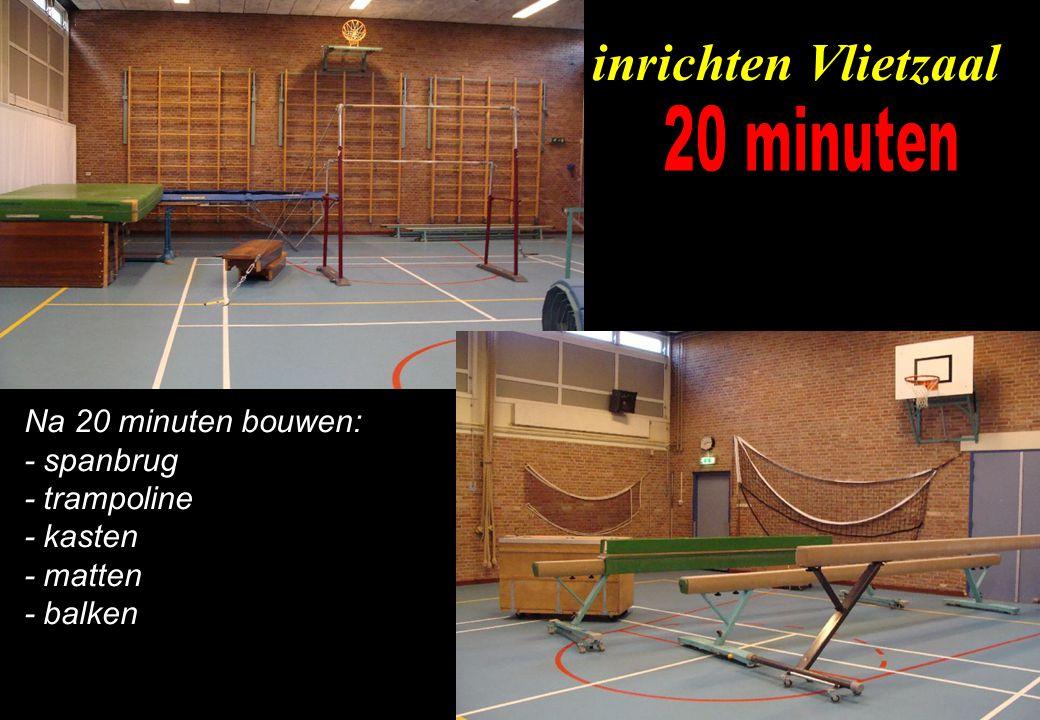 inrichten Vlietzaal 20 minuten Na 20 minuten bouwen: - spanbrug