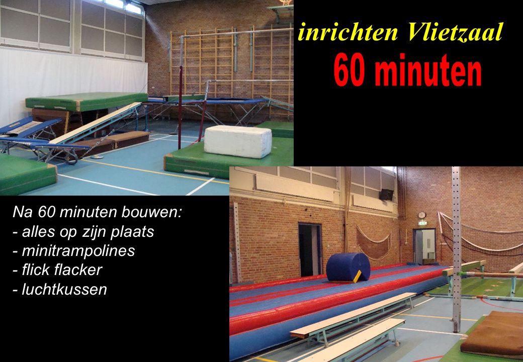 inrichten Vlietzaal 60 minuten Na 60 minuten bouwen:
