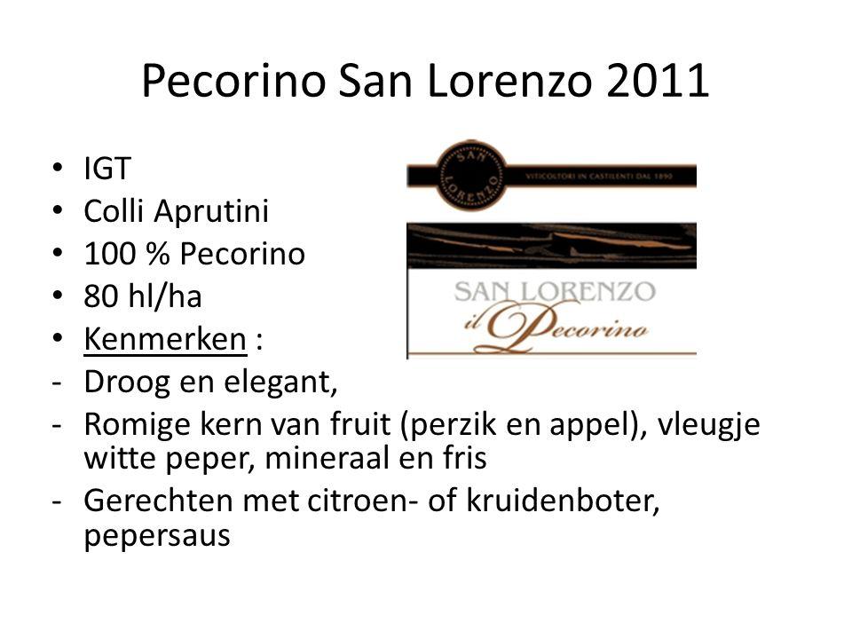 Pecorino San Lorenzo 2011 IGT Colli Aprutini 100 % Pecorino 80 hl/ha