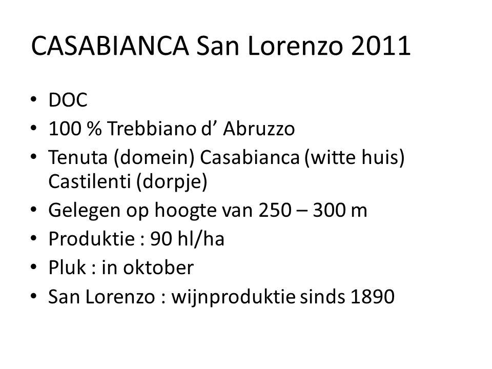 CASABIANCA San Lorenzo 2011