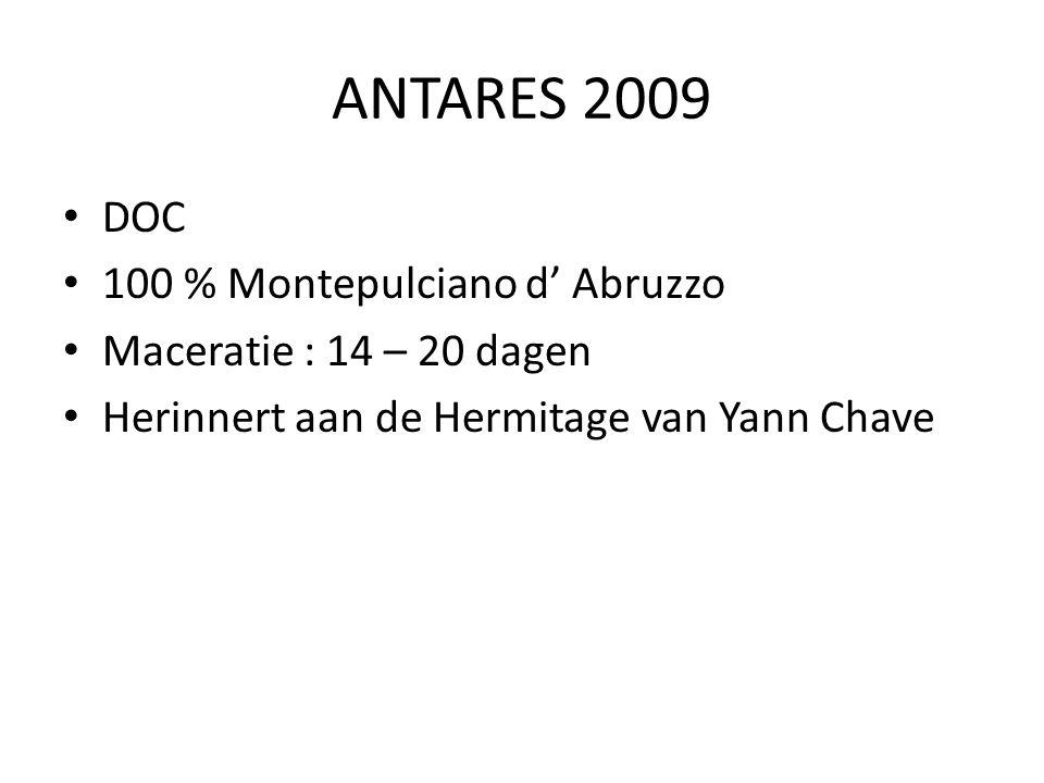 ANTARES 2009 DOC 100 % Montepulciano d' Abruzzo