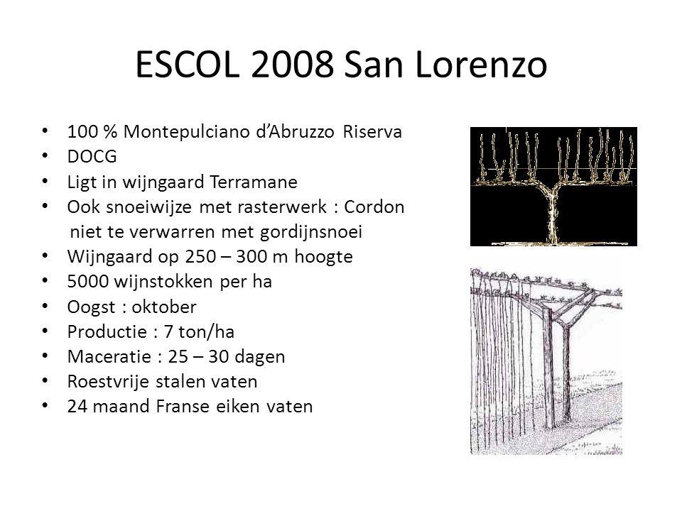 ESCOL 2008 San Lorenzo 100 % Montepulciano d'Abruzzo Riserva DOCG