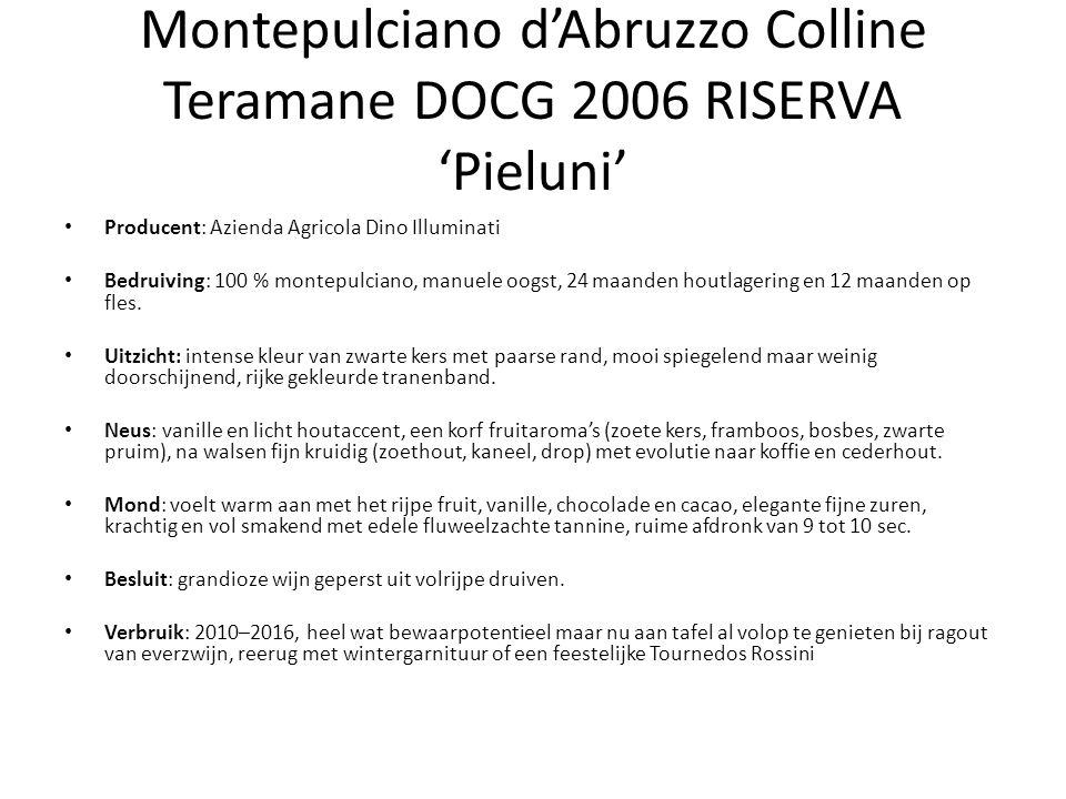 Montepulciano d'Abruzzo Colline Teramane DOCG 2006 RISERVA 'Pieluni'